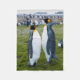 South Georgia. Salisbury Plain. King penguins 2 Fleece Blanket