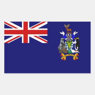South Georgia/Sandwich. Britain, British Overseas Rectangular Sticker