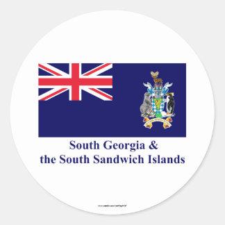 South Georgia & the South Sandwich Islands Flag Classic Round Sticker