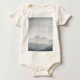 South Ghats in Black and White Baby Bodysuit