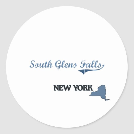 South Glens Falls New York City Classic Classic Round Sticker