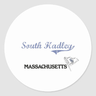South Hadley Massachusetts City Classic Round Sticker