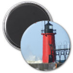 South Haven Lighthouse 2 Inch Round Magnet