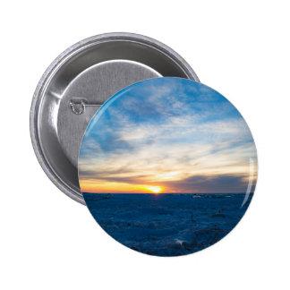South Haven Lighthouse Frozen Lake Michigan Button