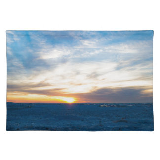 South Haven Lighthouse Frozen Lake Michigan Cloth Placemat