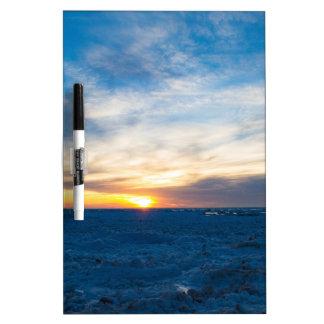 South Haven Lighthouse Frozen Lake Michigan Dry-Erase Board