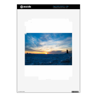 South Haven Lighthouse Frozen Lake Michigan iPad 2 Decals