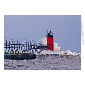 South Haven Lighthouse Mchigan Photo Note Card