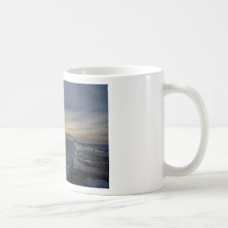 South Haven Lighthouse Sunset Classic White Coffee Mug
