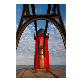South Haven, Michigan Lighthouse and Catwalk Print