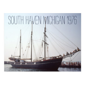 South Haven Michigan Tall Ship 1976 Postcard