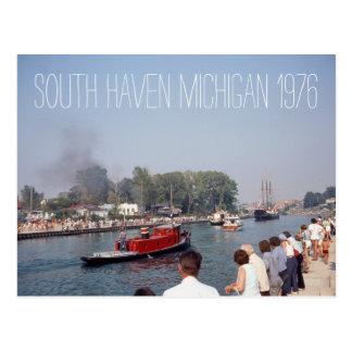 South Haven Michigan Tugboat 1976 Postcard