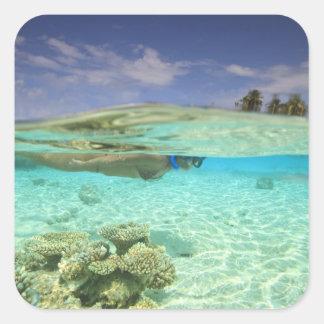 South Huvadhoo Atoll, Southern Maldives, Indian Square Sticker