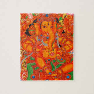 SOUTH INDIAN LORD GANESH TANJORE PAINTING JIGSAW PUZZLE