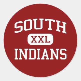 South - Indians - Middle School - Nokomis Illinois Classic Round Sticker