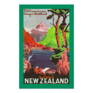 South Island New Zealand (canvas) Poster