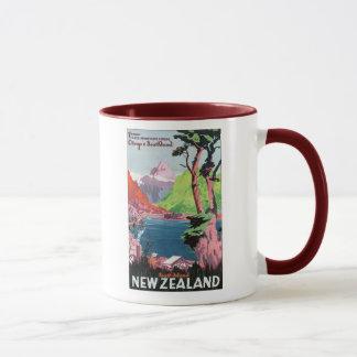 South Island New Zealand Travel Poster Mug