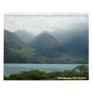 South Island, New Zealand Wall Calendar