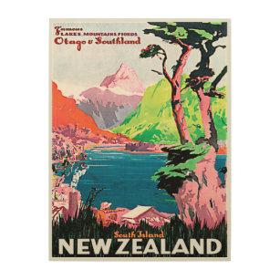 Vintage New Zealand Wood Wall Art Zazzle