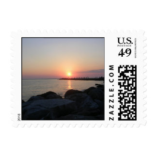 South Jetty Sunset Stamp