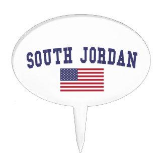 South Jordan US Flag Cake Topper