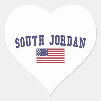South Jordan US Flag Heart Sticker