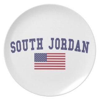 South Jordan US Flag Melamine Plate