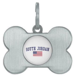 South Jordan US Flag Pet ID Tag