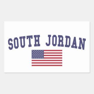 South Jordan US Flag Rectangular Sticker