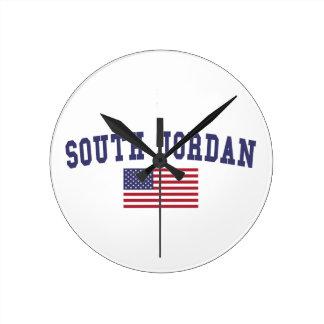 South Jordan US Flag Round Clock