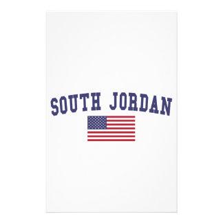 South Jordan US Flag Stationery