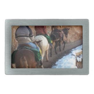 South Kiabab Grand Canyon National Park Mule Ride Rectangular Belt Buckles