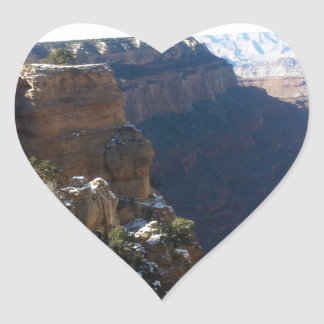 South Kiabab Grand Canyon National Park Mule Ride Heart Sticker