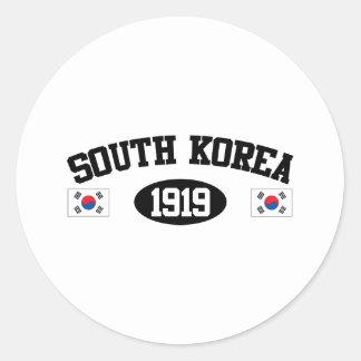 South Korea 1919 Classic Round Sticker