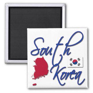 South Korea 2 Inch Square Magnet