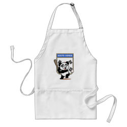 Apron with South Korea Baseball Panda design