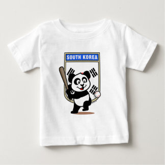 South Korea Baseball Panda Infant T-shirt