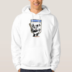 Men's Basic Hooded Sweatshirt with South Korea Baseball Panda design