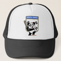 Trucker Hat with South Korea Baseball Panda design