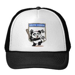 Trucker Hat with South Korea Baseball Panda design