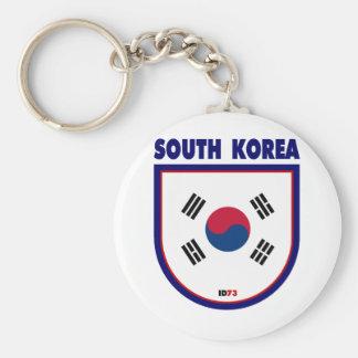 South Korea Basic Round Button Keychain