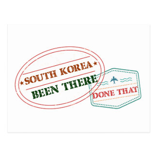 South Korea Been There Done That Postcard