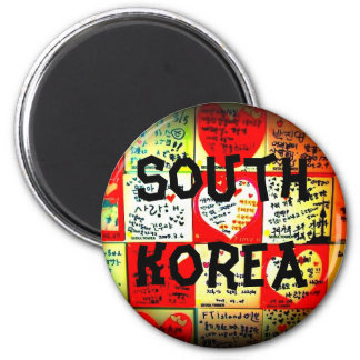 South Korea Circle Magnet