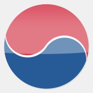 south_korea classic round sticker