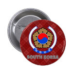 South Korea Coat of Arms 2 Inch Round Button