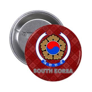 South Korea Coat of Arms Button