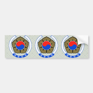 South Korea Coat of Arms detail Bumper Sticker