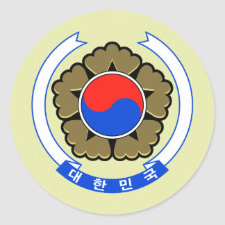 South Korea Coat of Arms detail Classic Round Sticker