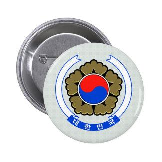 South Korea Coat of Arms detail Pinback Button