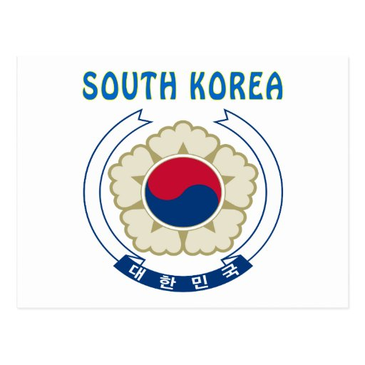 SOUTH KOREA Coat Of Arms Post Cards